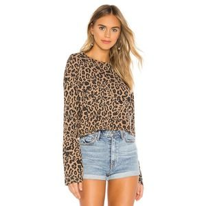 LNA Nat Leopard Long Sleeve Tee Large